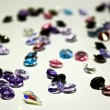 Many jewel stones over white background — Foto de stock #8412353