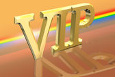 VIP or Very Important Person letter illustration over spectral background — Foto Stock