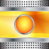 金属表面と未来的な背景の図を表示 — ストックベクタ