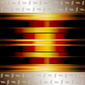 Graphic illustration of technology background with golden plates and incand — ストックベクタ