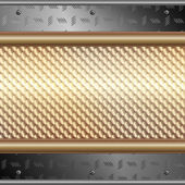 Graphic illustration of technology background with silver plates over metallic surface — Stockvector