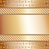 Graphic illustration of technology background with golden plates — Stock Vector