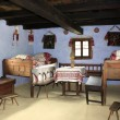 Decorated room of rural house from Transylvania — 图库照片