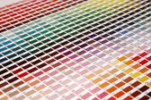 Farbsystem pantone farben auf position abschrägung — Stockfoto