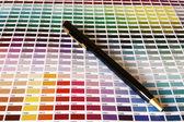 Guia de cores de cores pantone para a posição de bisel — Foto Stock