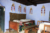 Decorated room of rural house from Transylvania, Romania — Stock Photo