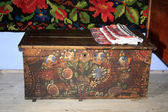 Very old wooden box from secular house — 图库照片