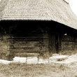 Stock Photo: Scene of wooden church from Transylvania, Romania