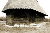 Scene of wooden church from Transylvania, Romania — Stock Photo