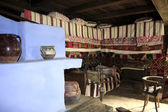 Interior of rural house from Transylvanian village — Stok fotoğraf