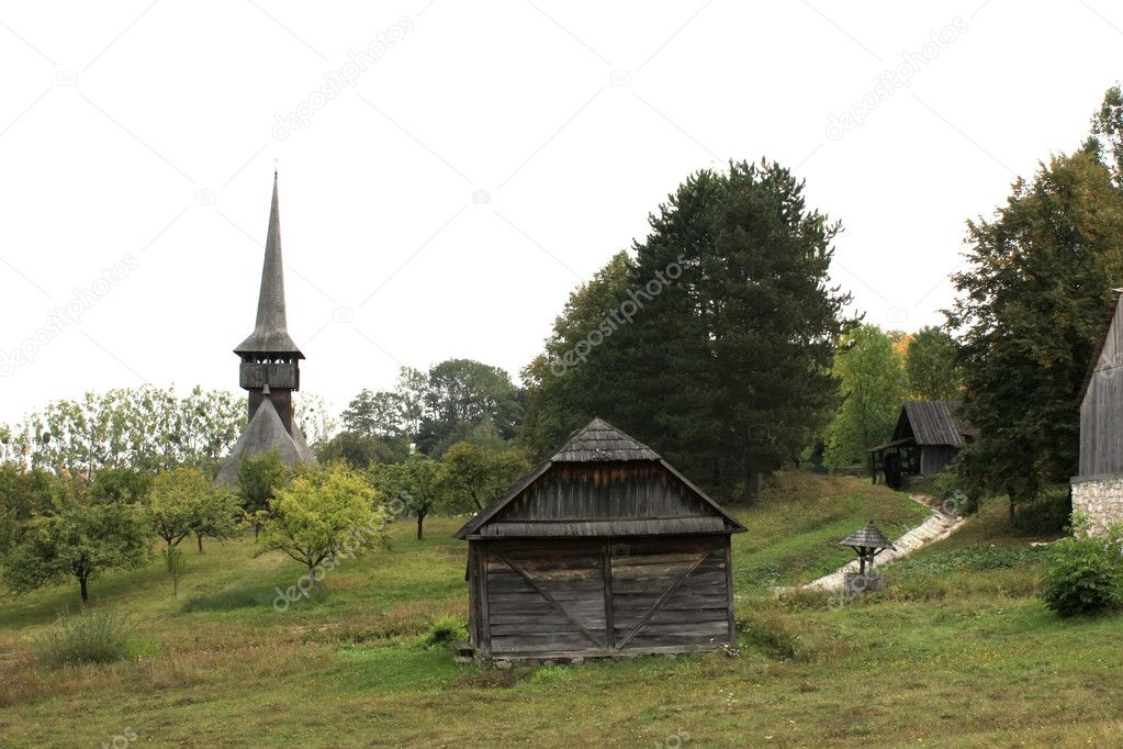 Secular village from Transylvania, Romania — Stock Photo #9571871