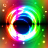 Graphic illustration of magic forms over spectral background — Stock Vector