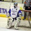 The Hockey Goalie of Miercurea-Ciuc team — Stock Photo