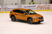 New Subaru presentation at Brasov rink stadium — Stok fotoğraf
