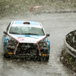 Stock Photo: Very bad weather conditions at Brasov rally