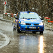 Scene with abundant snowfall at Brasov rally — Stock Photo #9786905