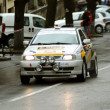 Race car launched in championship at the Brasov rally — Stock fotografie