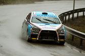 Rainny day at Brasov rally championship — Stock Photo