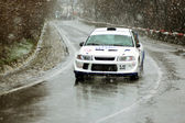 Bad weather at Brasov rally — Stock Photo
