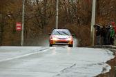 Raining conditions at Brasov rally — Stock Photo