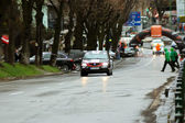 Bil rally börjar på brasov rally — Stockfoto