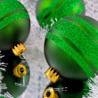 Green Christmas Ornaments - Stock Photo