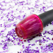Magenta nail polish - Stock Photo