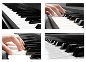 Collectoin of piano — Stock Photo