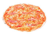 Pizza on a white background — Stock Photo