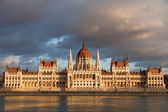 Parlement hongrois sur sunset, budapest — Photo