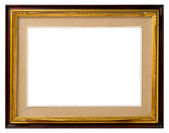 Old gilt wood frame. — Stock Photo