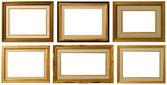Collezione cornice dorata. — Foto Stock