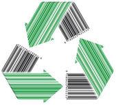 Barcode återvinna — Stockvektor