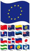 Vector Flag Collection — Stock Vector