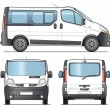 Royalty-Free Stock Vector Image: Minibus template
