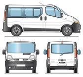 Minibus template — Stock Vector