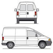 Mini Van Vector — Stock Vector