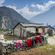 View of local house in central Himalayan mountains — Stock Photo