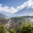 Annapurna Himalaya region in Nepal - Stock Photo