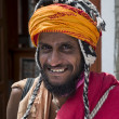 Buddhist pilgrim portrait - Stock Photo