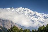 Annapurna himalaya vrcholy v nepálu在尼泊尔的喜马拉雅山的顶部 — Stock fotografie