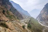 Mountain landscape in Nepal — Stock Photo