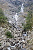 Cascade of waterfalls in the Himalaya — Stock Photo