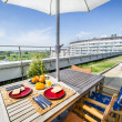Roof top terrace exterior — Stock Photo