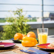 Royalty-Free Stock Photo: Breakfest on balcony