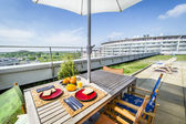 Roof top terrace exterior — Foto de Stock