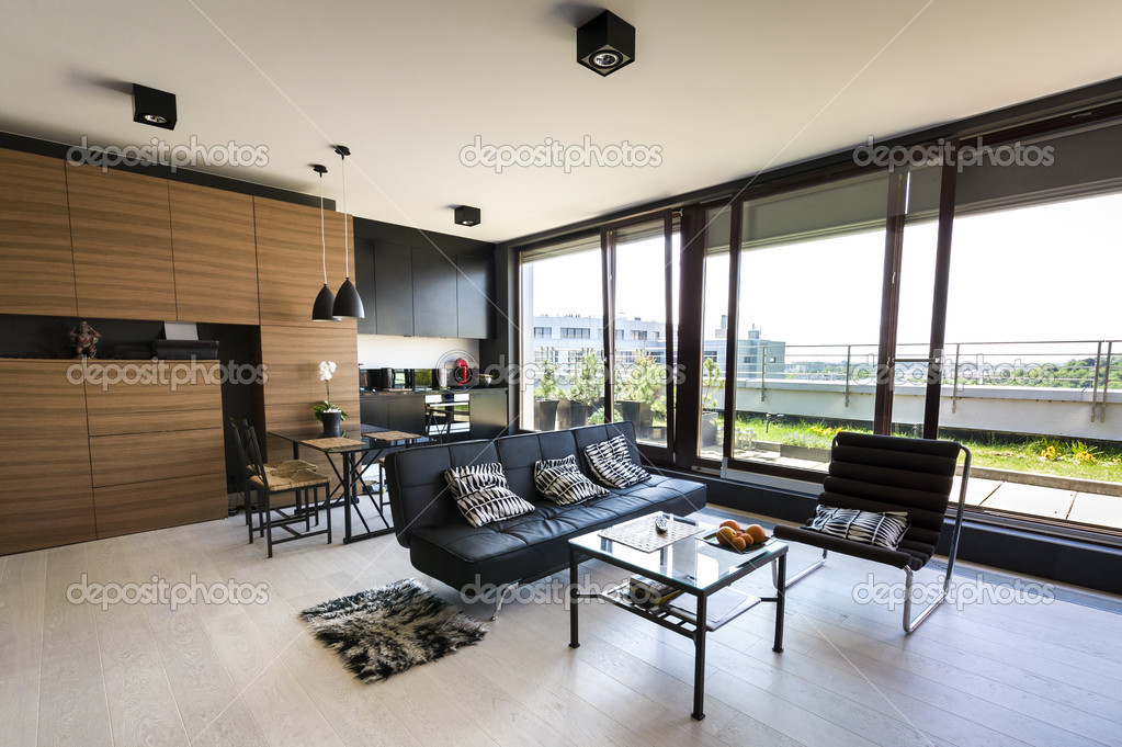 Moderne interieur appartement stockfoto jacek kadaj 10522869 - Interieur appartement moderne ...