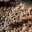 Roasted dark coffee beans - Stock Photo