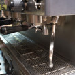 Espresso machine close-up - Stock Photo
