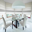 Modern dinning room — Stock Photo